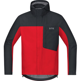 GORE WEAR C3 Gore-Tex Paclite Capuchon Jas Heren, red/black